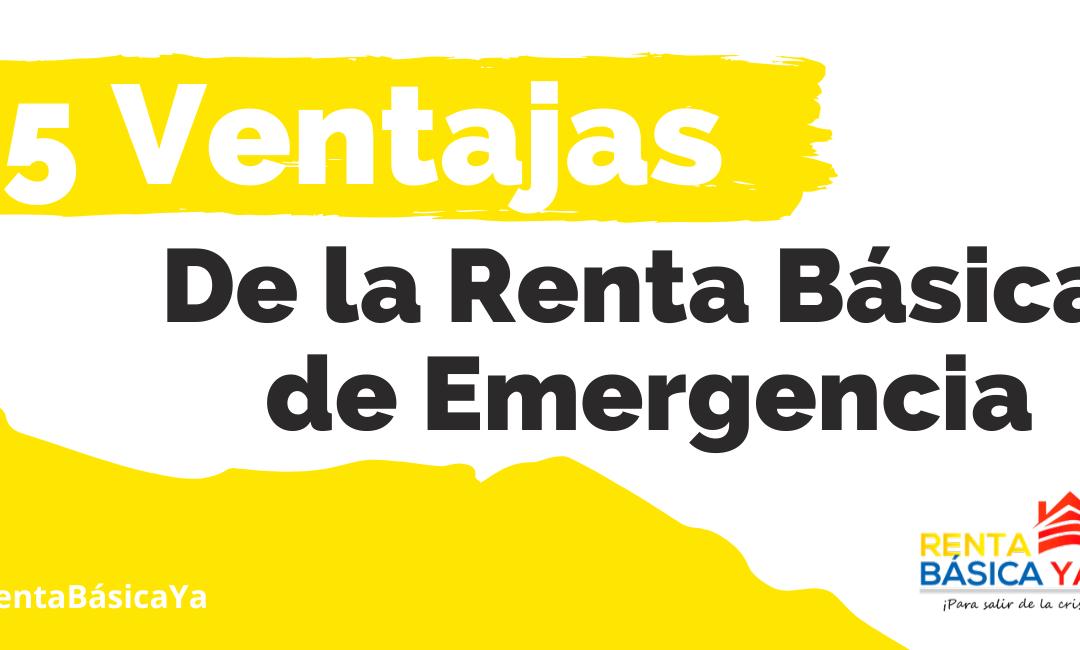 Renta básica de emergencia es el camino para salir de la crisis de los hogares y reactivar la economía del país